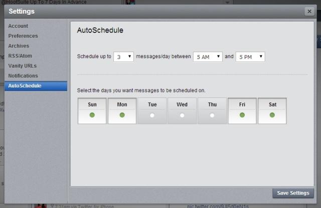HootSuite AutoSchedule 1